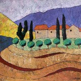 Michael Duffy, Scenes of a Tuscan Nature II, 2008, acrylic on canvas, 90 x77cm