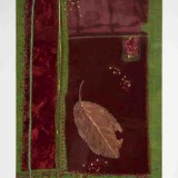 Claire McAteer, Jewel, 1999, overlays of textile and mixed media on fabric, 41 x 58cm