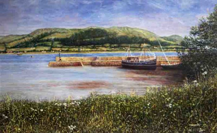Peggy Murphy, The Port of Omeath, 1999, oil on canvas, 90 x 70cm