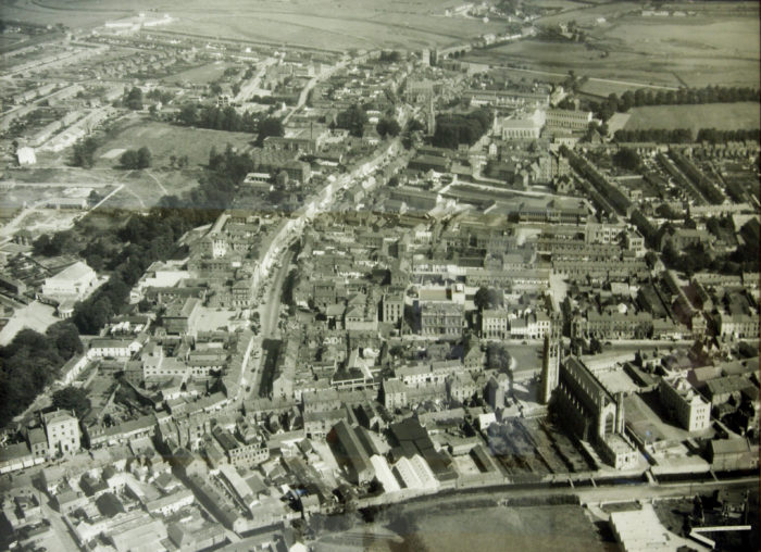 Duffner Bros., Aerial View II (Dundalk Town Centre), 1949, photographic print, 170 x 118cm