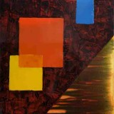 Anthony Pilbro, For Duccio, 2000, acrylic on canvas, 81 x61cm